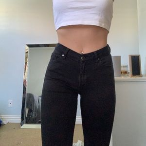 Black topshop moto leigh jeans